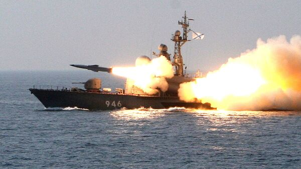 Tir d'un missile antinavire supersonique russe Moskit (archives) - Sputnik France