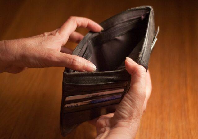 Un portefeuille vide