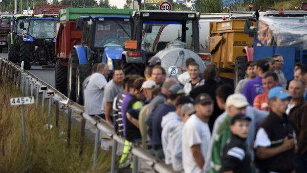 Protestation d'agriculteurs dans l'ouest de la France  - Sputnik France