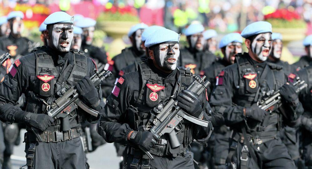 Soldats qataris. Image d'illustration