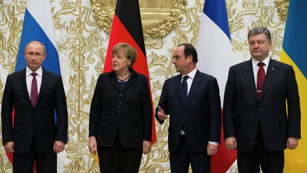 Poutine, Hollande, Merkel et Porochenko - Sputnik France