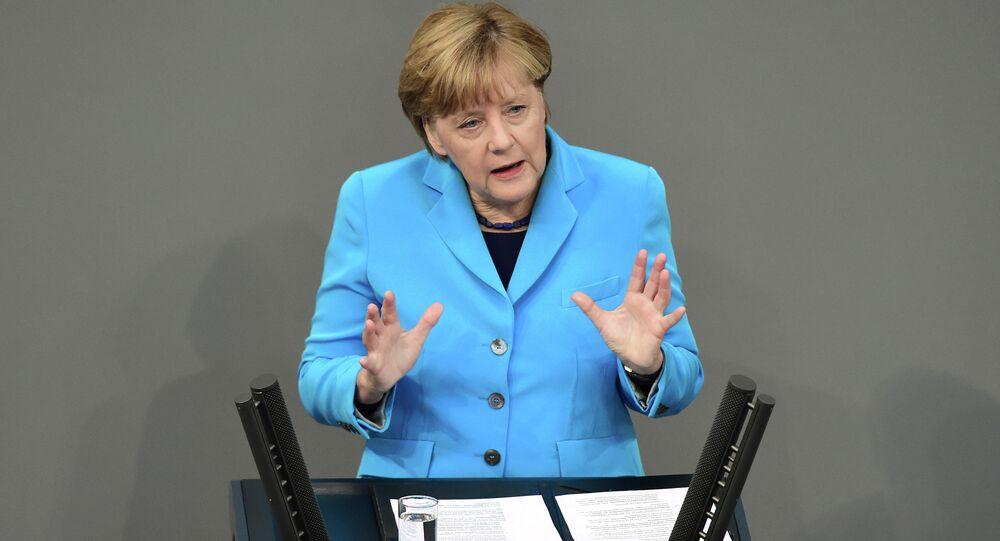 Angela Merkel au Bundestag