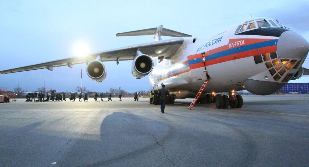 Avion russe délivrant de l'aide humanitaire en Syrie. Archive photo