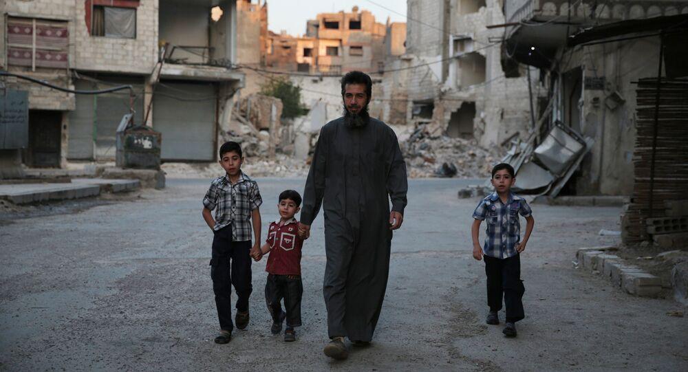 Syrien avec les enfants. Damas
