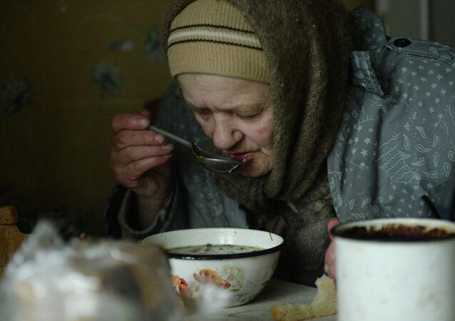 Une retraitée ukranienne