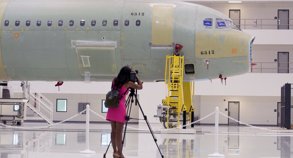 Site de production d'Airbus aux Etats-Unis