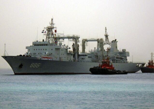 Navires de guerre chinois. Image d'illustration