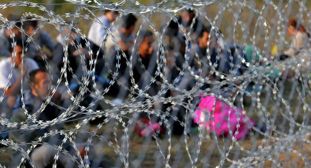 La frontière entre la Serbie et la Hongrie, 2015