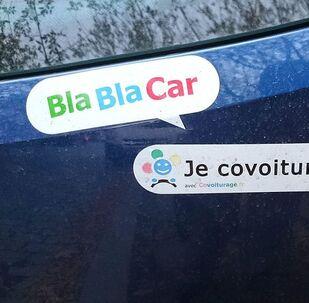 BlaBlaCar sticker on a car