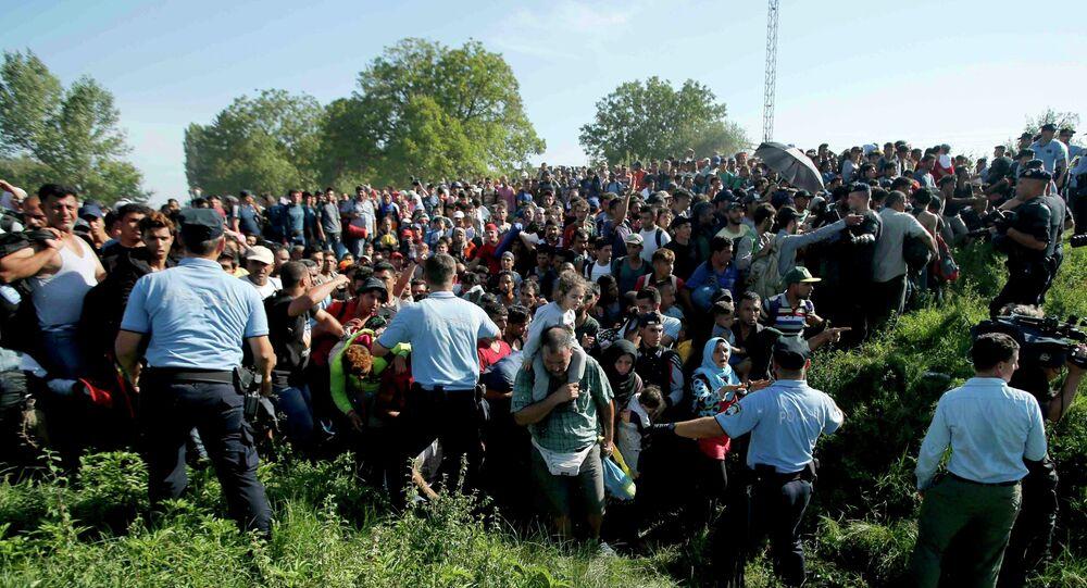 Des réfugiés affluent massivement en Croatie, le 17 septembre 2015