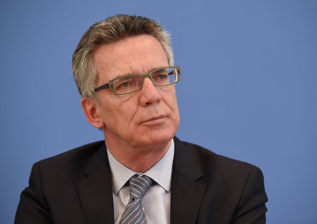 Le ministre allemand de l'intérieur, Thomas de Maizière