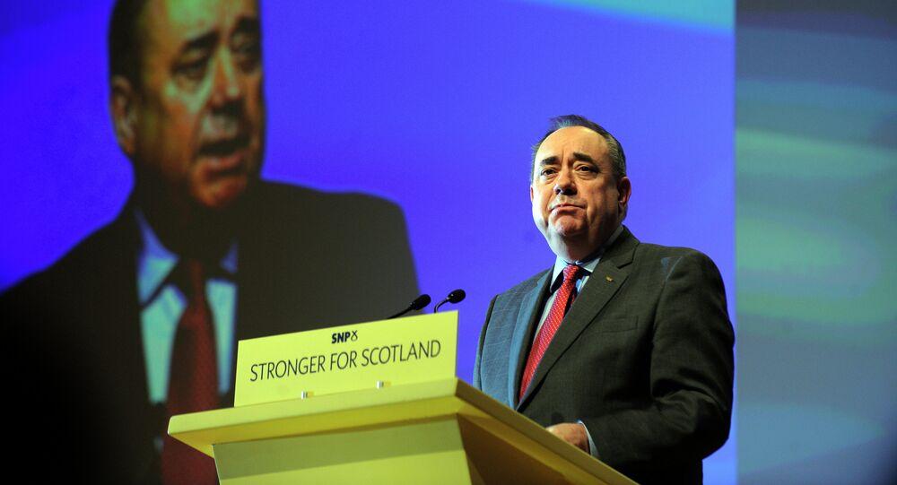 Alex Salmond, ancien chef du Parti national écossais (SNP) et ex-premier ministre d'Ecosse