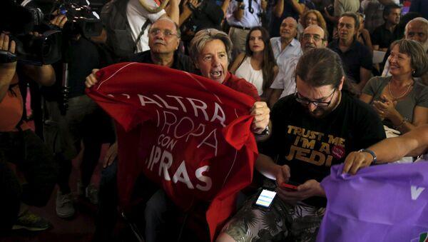 Les partisans du parti grec Syriza - Sputnik France