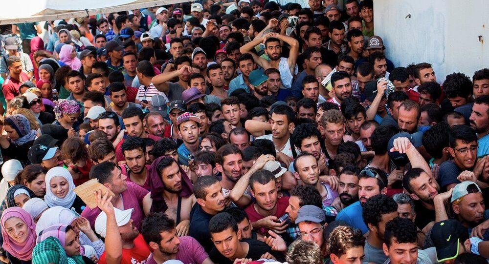 Des migrants en provenance de la Syrie en Grèce