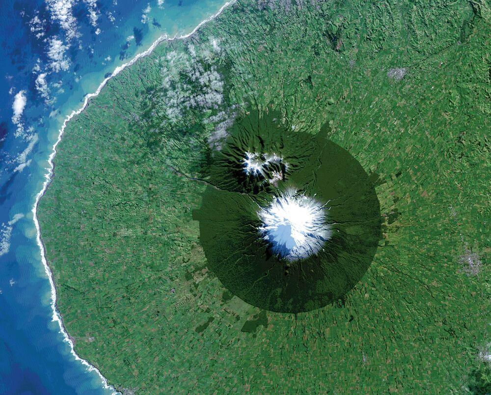 Le parc national d'Egmont à l'ouest de l'île du Nord de la Nouvelle-Zélande