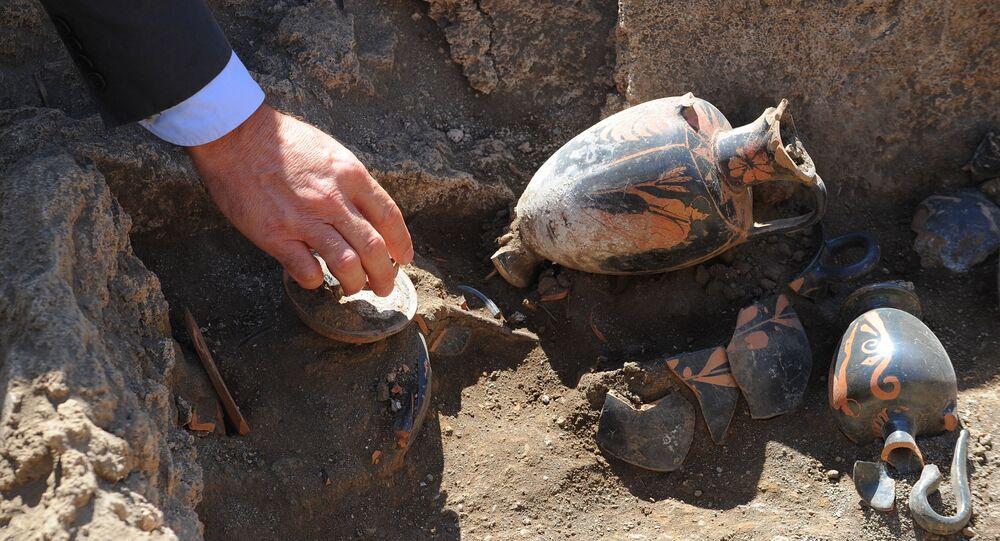 Une sépulture vielle de 2.500 ans découverte à Pompéi