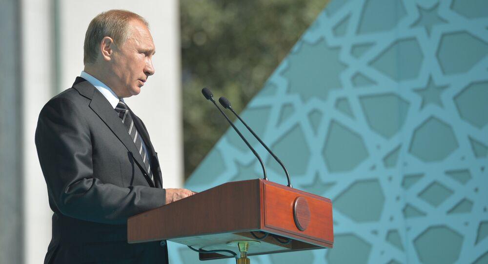 Poutine à la Grande mosquée de Moscou