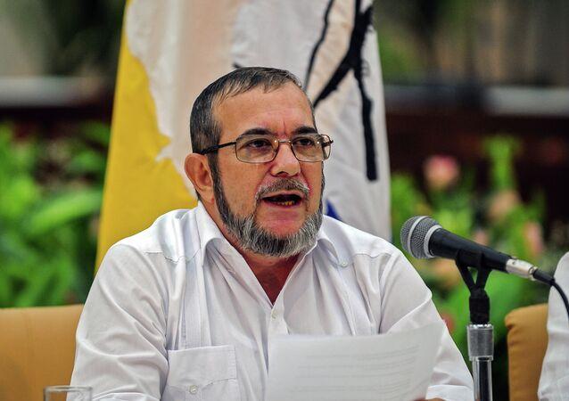 le chef des FARC (Les Forces armées révolutionnaires de Colombie) Timoleon Jimenez