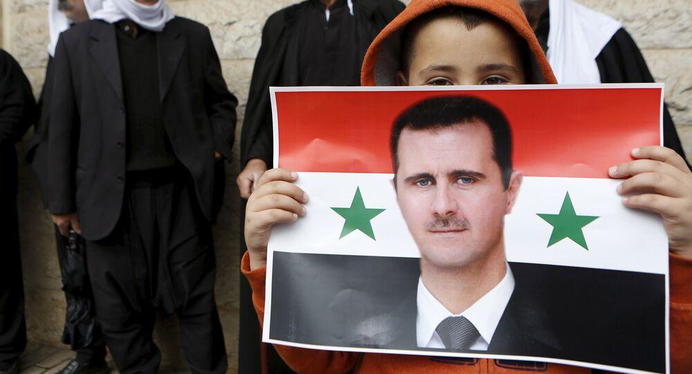 Le portait du président syrien Bachar al-Assad