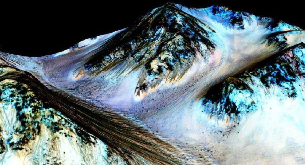 eau liquide sur Mars
