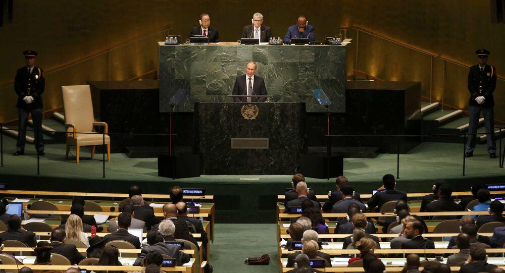 Vladimir Poutine à l'AG de l'Onu