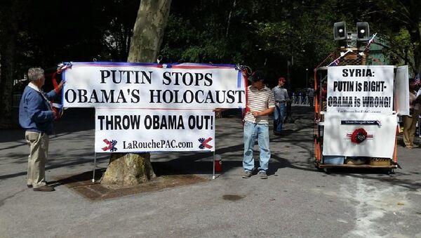 Manifestants à New York - Sputnik France