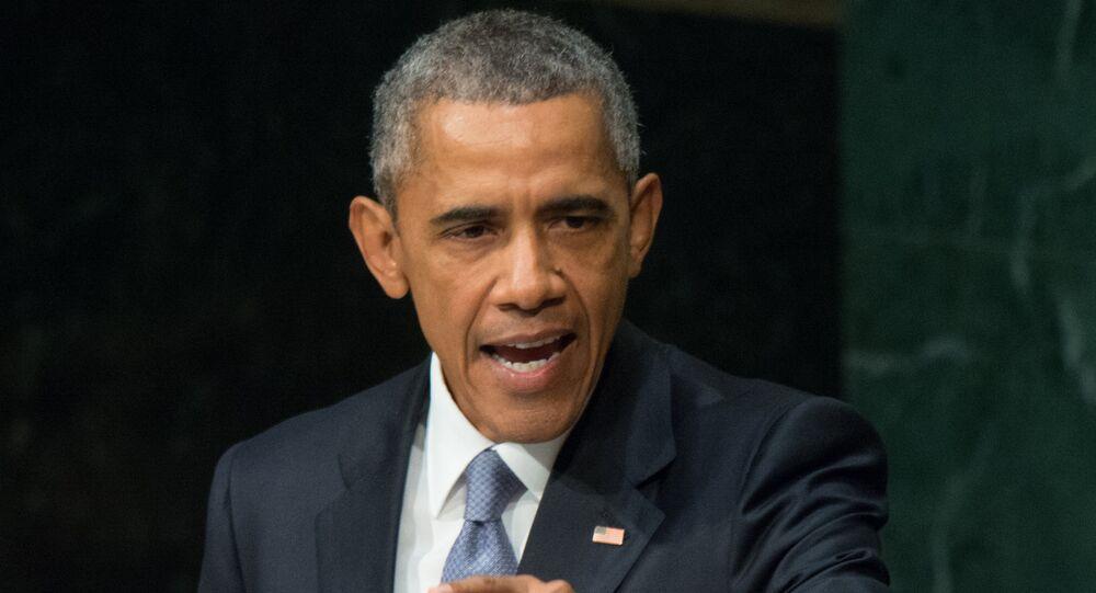 Le président des Etats-Unis Barack Obama fait un discours à l'Assemblée générale de l'Onu
