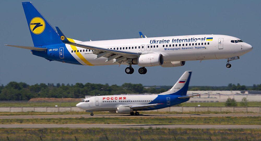 Avion de la plus grande compagnie aérienne ukrainienne, Ukraine International Airlines (UIA)
