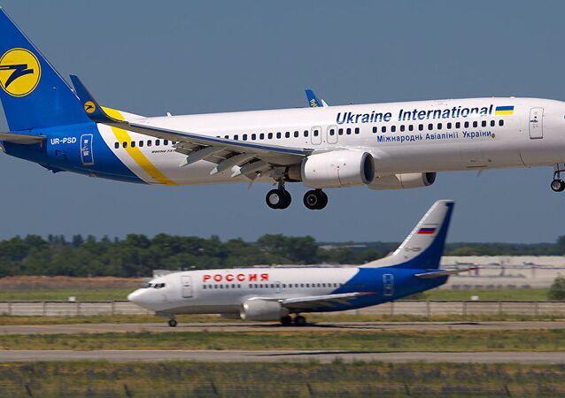 Avion de compagnie aérienne ukrainienne, Ukraine International Airlines (UIA)