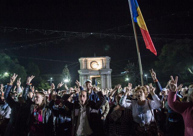 Manifestation de protestation à Chisinau