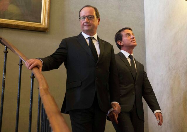 Francois Hollande et Manuel Valls. Archive photo