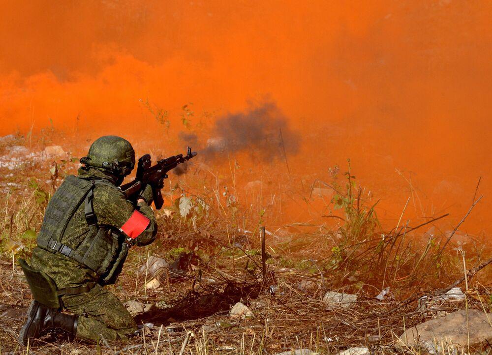 Exercices antiterroristes de la marine russe