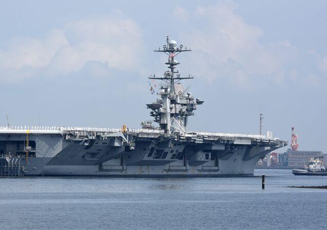 un porte-avions nucléaire