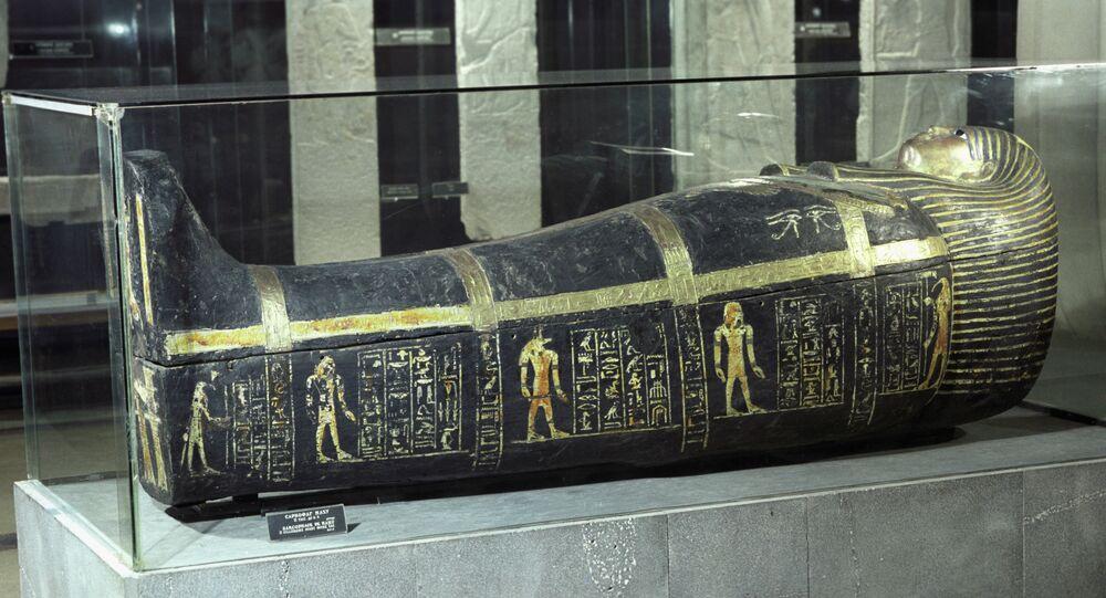 Un sacrophage égyptien