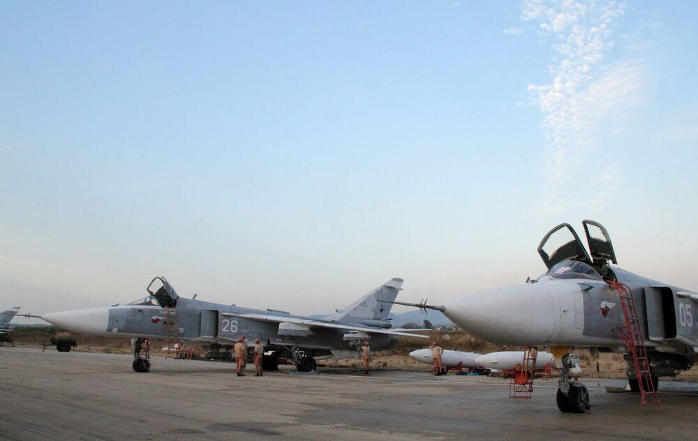 L'aviation d'attaque russe à l'aérodrome syrien deHmeimim