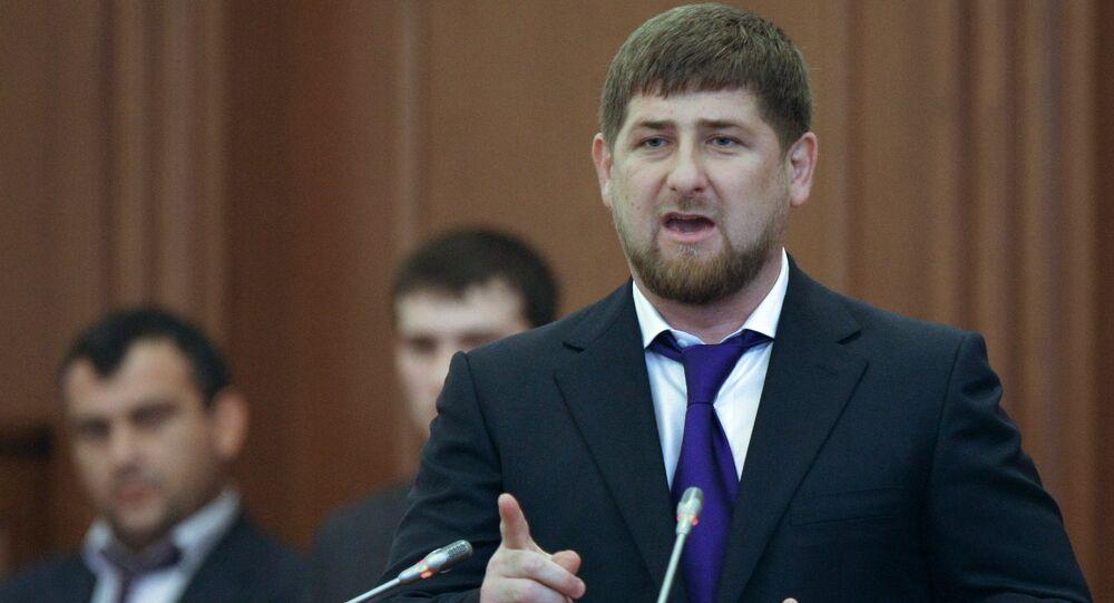 le chef de la République de Tchétchénie Ramzan Kadyrov