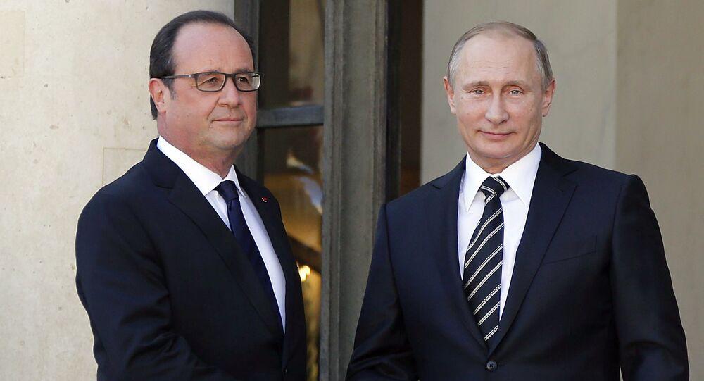 Francois Hollande et Vladimir Poutine