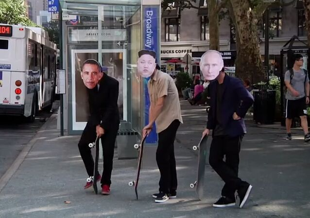 Poutine, Obama et Kim Jong-Un ont fait du skateboard sur Why can't we be friends