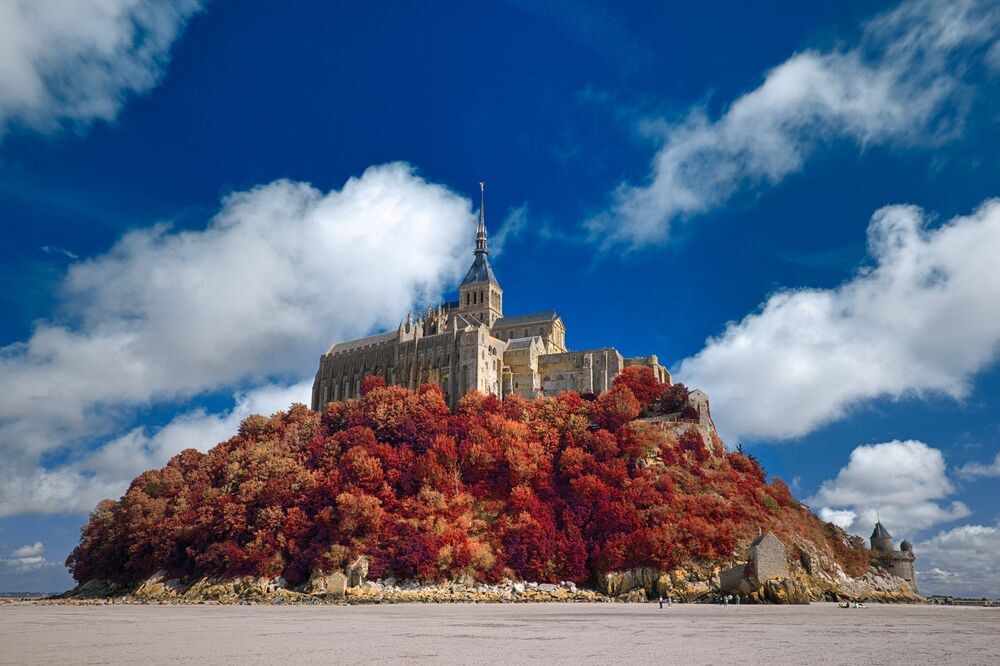 Le monastère du Mont Saint-Michel, Normandie, France
