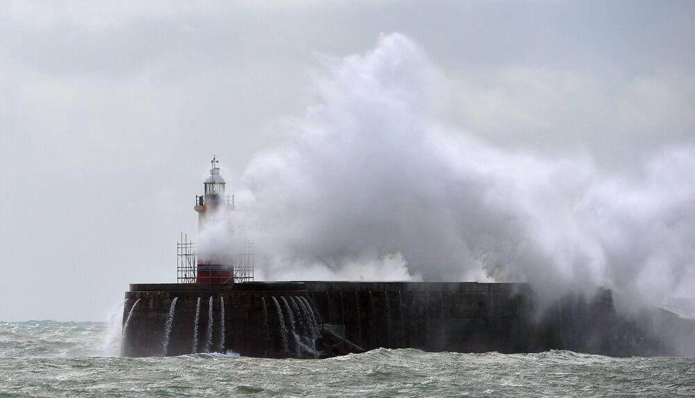 Le phare de Newhaven au sud de l'Angleterre