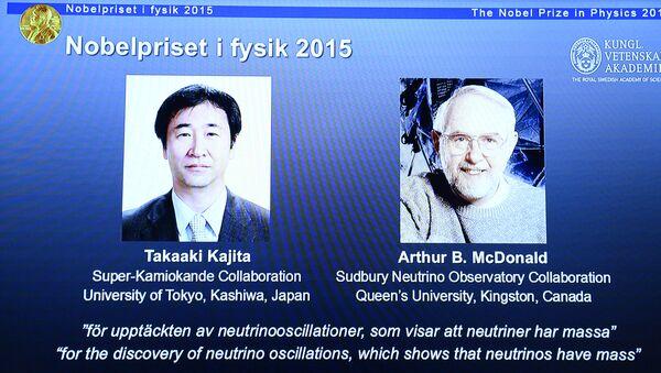 Takaaki Kajita (Japon) et Arthur B. McDonald (Canada) - Sputnik France