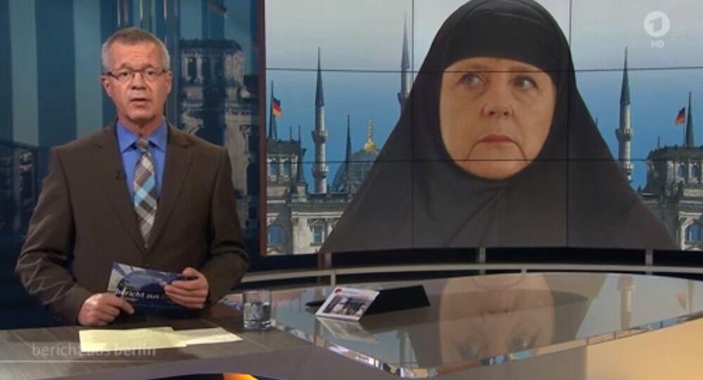 Merkel en burqa
