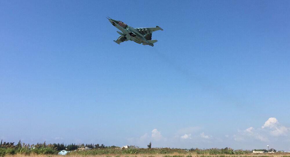 Avion Su-25 de l'Armée de l'air russe en Syrie