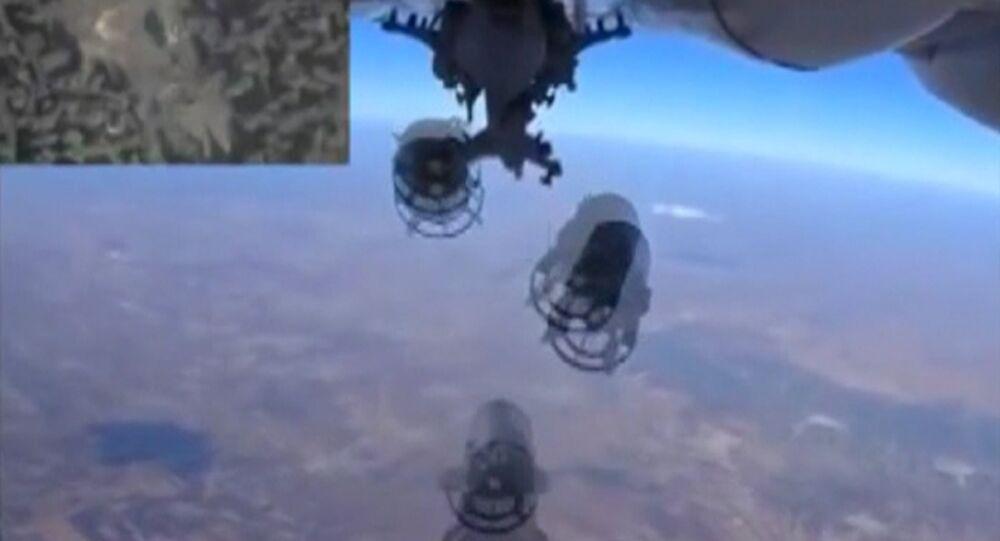 Frappe aérienne. Capture d'écran: ministère russe de la Défense