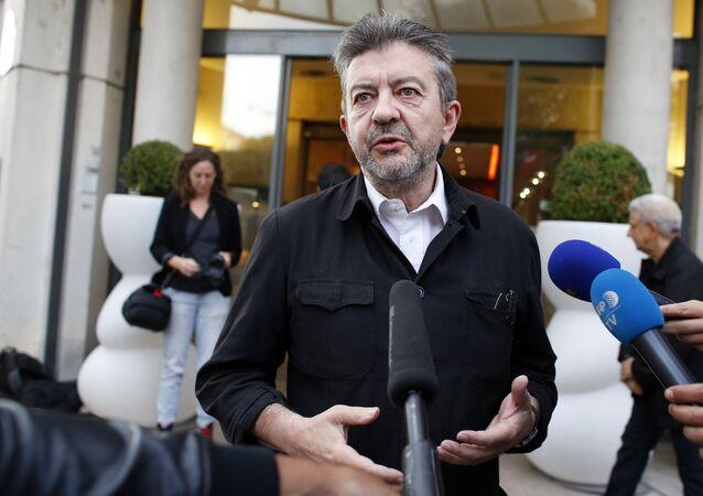 Le responsable de La France Insoumise Jean-Luc Mélenchon