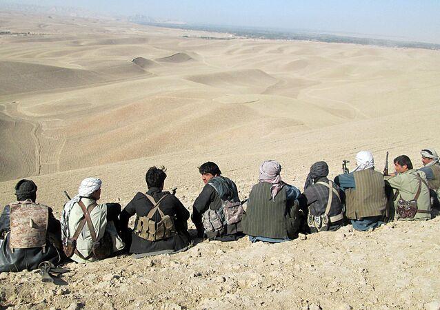 Forces de sécurité et volontaires afghanes. Image d'illustration
