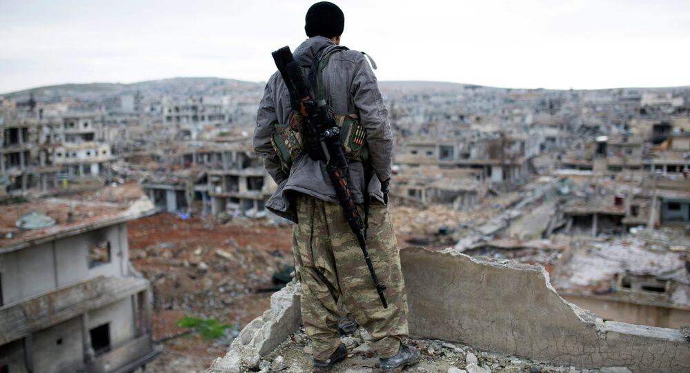 Insurgé syrien. Image d'illustration