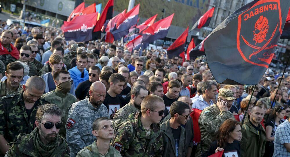 Militants du Pravy Sektor à Kiev (archives)
