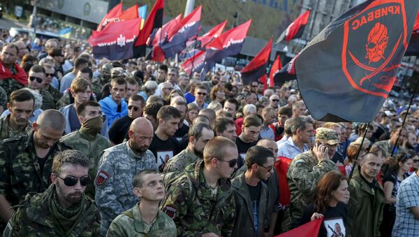 Militants du Pravy Sektor à Kiev (archives) - Sputnik France