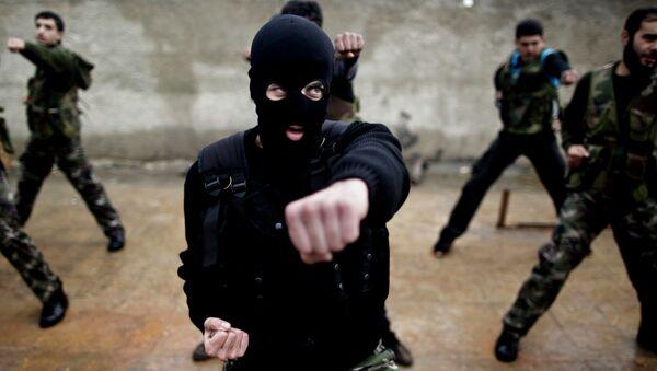 Entraînement de rebelles syriens modérés - Sputnik France
